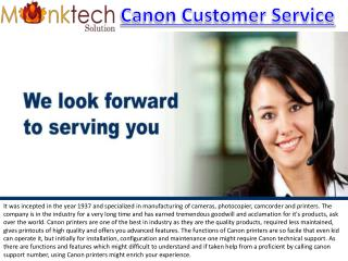 Canon Customer Service Number