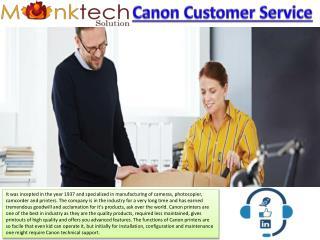 Canon Customer Service Toll Free