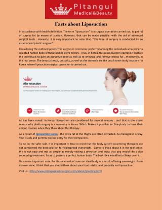 Facts about Liposuction
