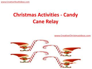 Christmas Activities - Candy Cane Relay