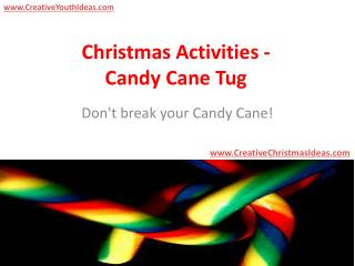 Christmas Activities - Candy Cane Tug