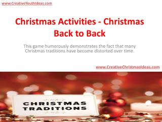 Christmas Activities - Christmas Back to Back