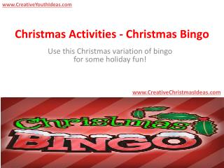 Christmas Activities - Christmas Bingo