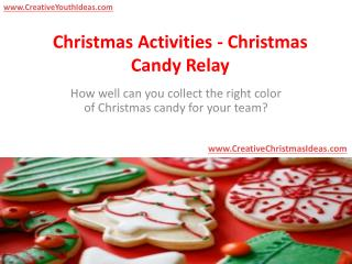 Christmas Activities - Christmas Candy Relay
