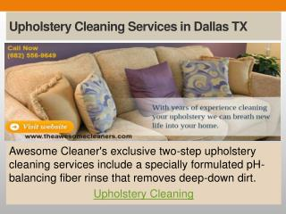 Upholstery Cleaning Services in Dallas TX