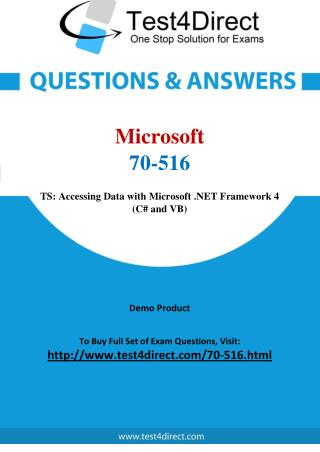 Microsoft 70-516 Test Questions