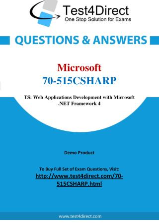 Microsoft 70-515CSHARP Exam - Updated Questions
