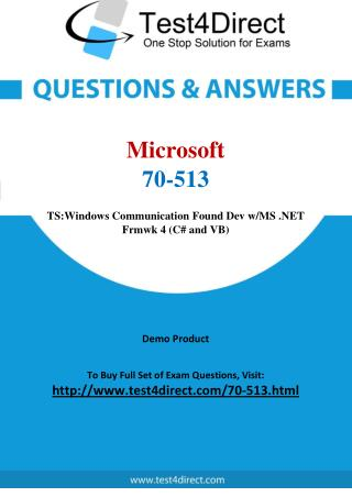 Microsoft 70-513 Exam Questions