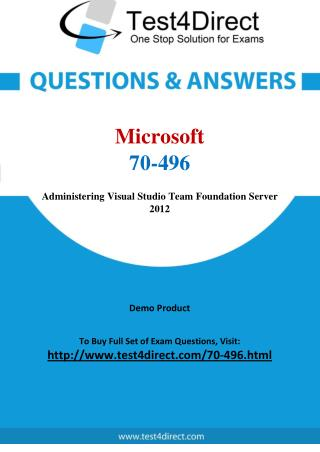 Microsoft 70-496 Exam Questions