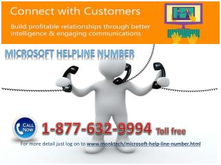 Dial on Microsoft Helpline number 1-877-632-9994 toll free