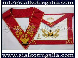 Masonic Rose Croix 18th degree Apron & Collar