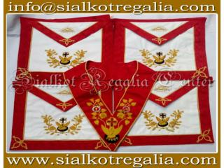 Masonic Rose Croix 18th degree Apron & collar set
