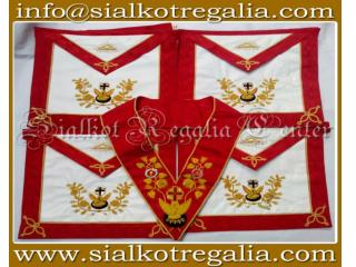 Masonic Rose Croix 18th degree regalia Apron & collar