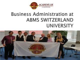 Business Administration at ABMS SWITZERLAND UNIVERSITY