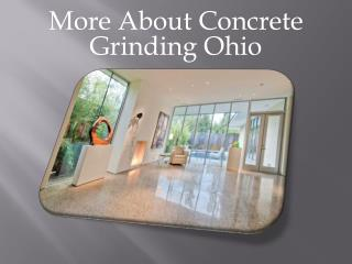 Concrete Grinding Ohio