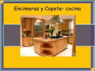 Encimeras y Copete- cocina
