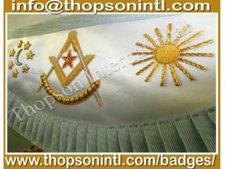 Masonic regalia French rite apron
