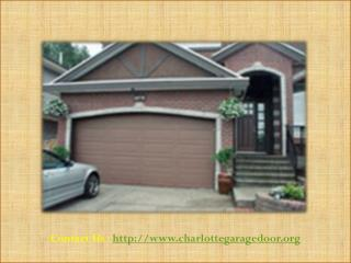 Garage Doors Specialists in Charlotte