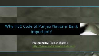 IFSC Code of Punjab National Bank