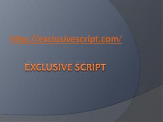 Open Source PHP Script