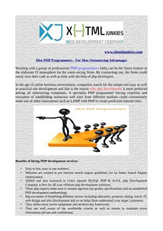 Hire PHP Programmers - For Max Outsourcing Advantages