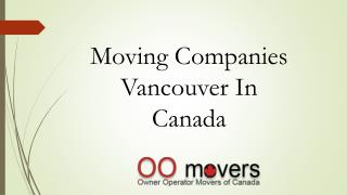 Moving Companies Vancouver In  Canada