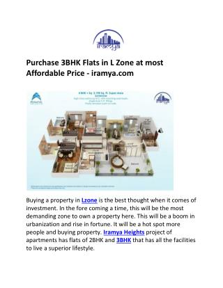 3BHK in L Zone iramya.com