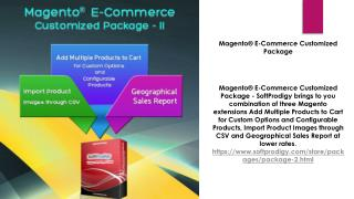 Magento� E-Commerce Customized Package