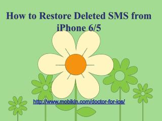How to restore deleted sms from iphone