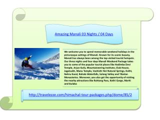 Amazing Manali 03 Nights / 04 Days
