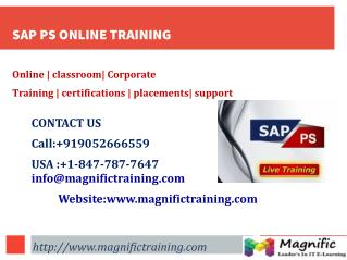 SAP PS ONLINE TRAINING IN GERMANY