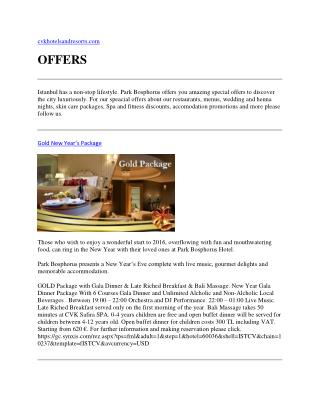 Istanbul Offers - Gold Package - Istanbul Hotels