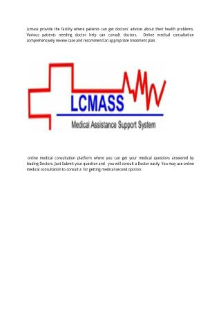 Lcmass Is A Helpful Of Guiding Others To Healthcare