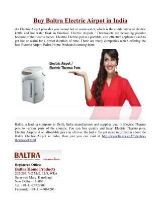 Buy Baltra Electric Airpot in India
