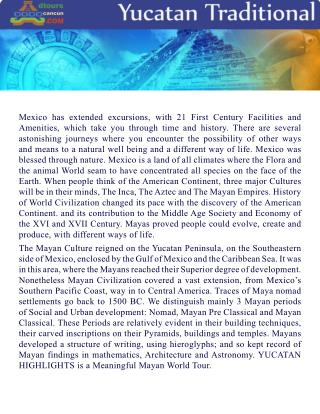 YUCATAN TRADITIONAL DTOURS