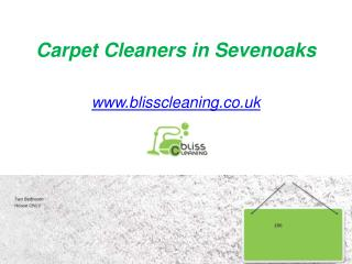 Carpet Cleaners in Sevenoaks - www.blisscleaning.co.uk