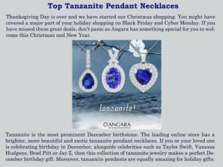 Top Tanzanite Pendant Necklaces