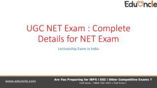 UGC NET Exam 2016 Complete Details