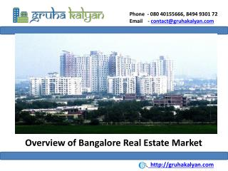 Overview of Bangalore Real Estate Market
