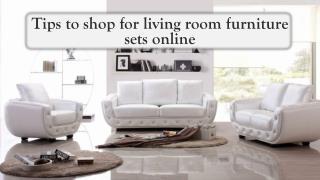 Tips to shop for living room furniture sets online