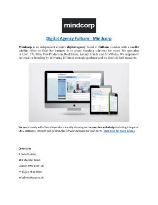 Digital Agency Fulham - Mindcorp