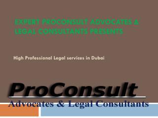 High professional Legal Services in Dubai