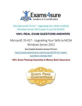 70-417 Online Test