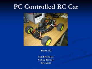 PC Controlled RC Car