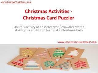 Christmas Activities - Christmas Card Puzzler