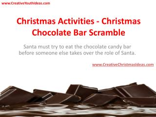 Christmas Activities - Christmas Chocolate Bar Scramble