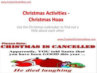 Christmas Activities - Christmas Hoax