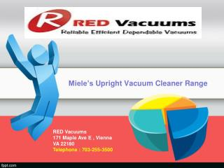 Upright Vacuum Cleaners by Miele