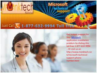 Microsoft Technical Support number @ 1-877-632-9994 Toll free