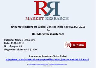Rheumatic Disorders Global Clinical Trials Review H2 2015